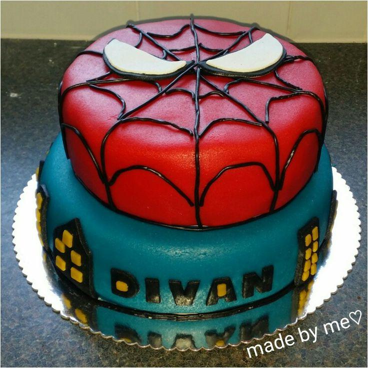 spiderman taart. ♡