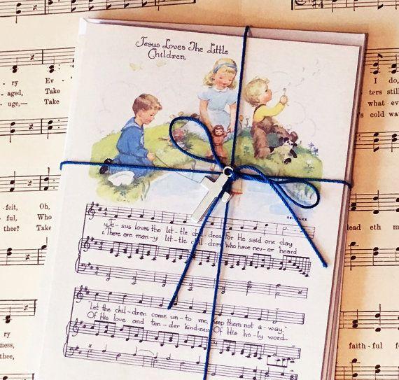 Jesus Loves The Little Children Hymn Card Set Baby by GospelHymns