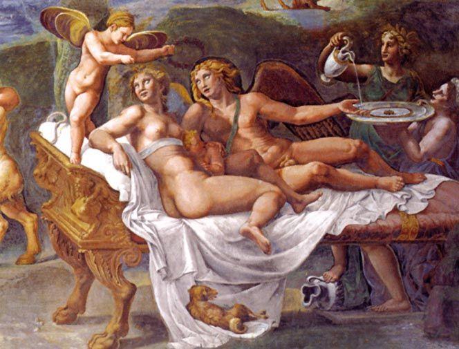 Giulio Romano - Banchetto nobile di Amore e Psiche,particolare 1526- 1528, Mantova -  Palazzo Te