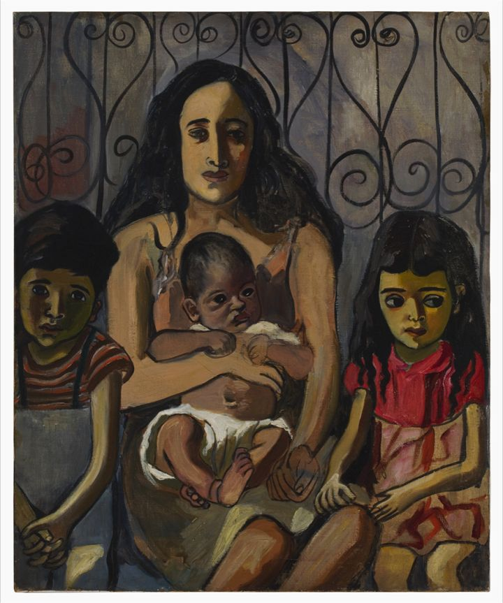 Alice Neel: Espanjalainen perhe, 1943. Estate of Alice Neel. Kuva: Malcolm Varon, New York © Estate of Alice Neel