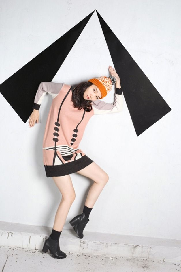 Jumper Dresses – Drawbridge Long Sleeve Shift Dress – a unique product by yusquare on DaWanda