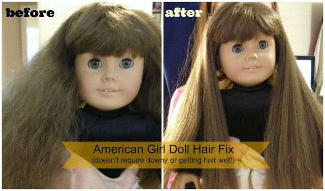 HousewivesofRiverton.com show you how to help that dry/frizzy doll hair in one easy step!