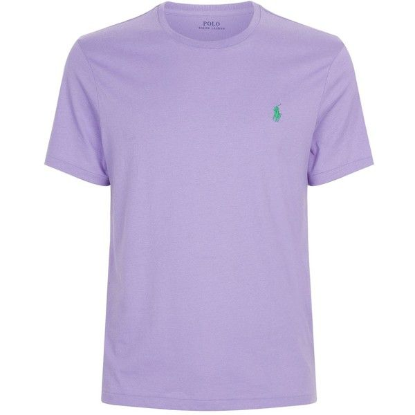 Polo Ralph Lauren Small Pony Custom Fit T-Shirt ($40) ❤ liked on Polyvore featuring men's fashion, men's clothing, men's shirts, men's t-shirts, mens cotton t shirts, polo ralph lauren mens shirts, mens base layer shirt and mens cotton shirts