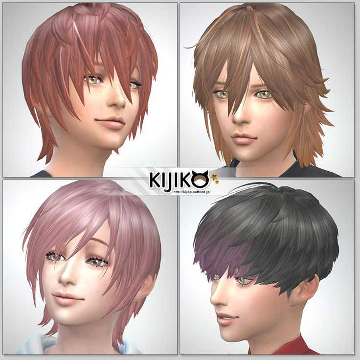Sims4 Hair Fron Side Back シムズ4 髪型 詳細 非透過タイプです。 シムズ4