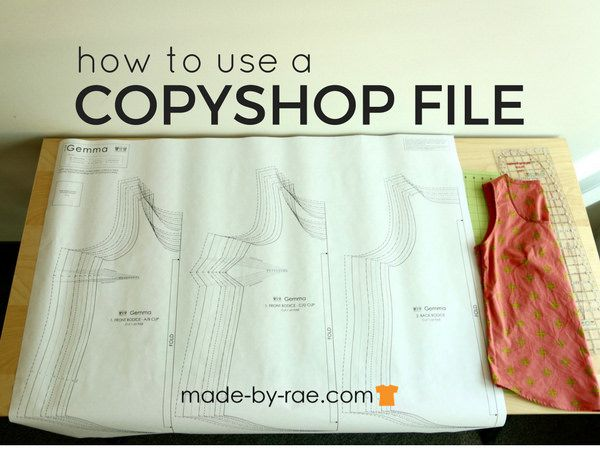 how to use a copyshop file