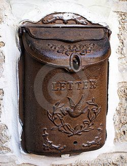 antique mail box..you totally know that someone was waiting for love letter to arrive in this thing - LOVE THIS!