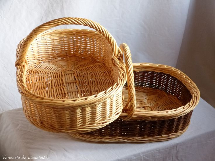 Panier En Osier Wicker : Best images about vannerie on