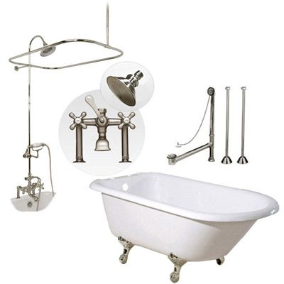 45 Best Images About Clawfoot Tub Shower On Pinterest