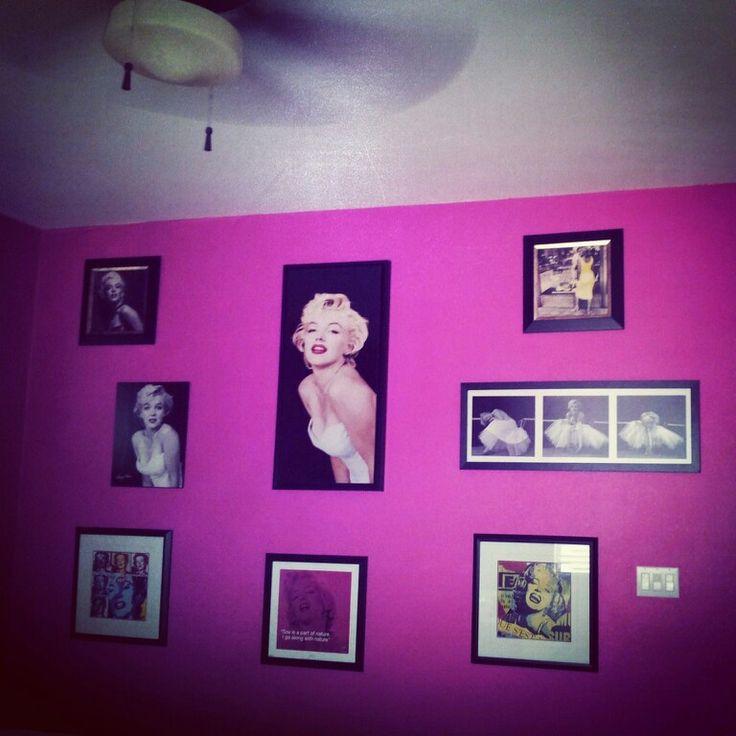 marilyn monroe diy cosmic pink bedroom walls collage my