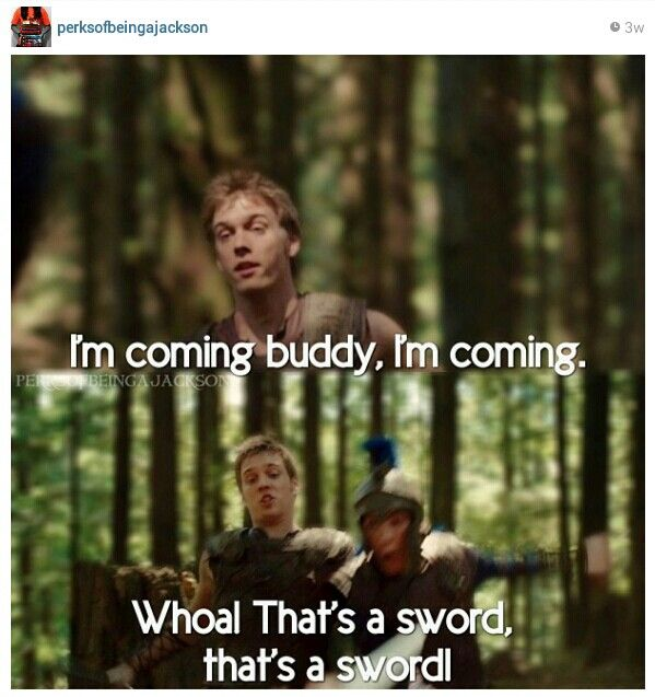 PJO - day 23 - favorite movie moment - I altogether think the movie is a disgrace.. But this part was funny.
