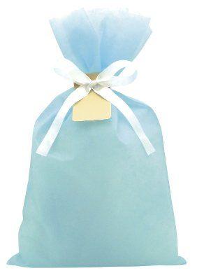 タカ印 ソフトバッグ(不織布) ライトブルー 中サイズ パーソナル仕立て 35-765