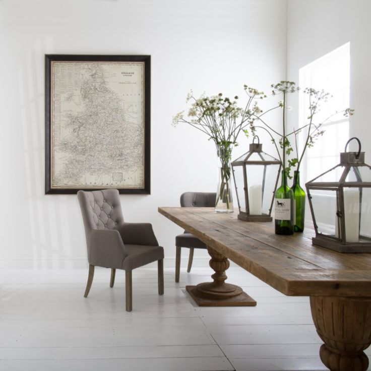 St James Grey Winged Dining Chair – Allissias Attic