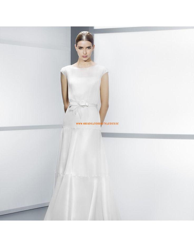 ... kurze Ärmel A-linie gestupfte Hochzeitskleider- Jesús Peiró