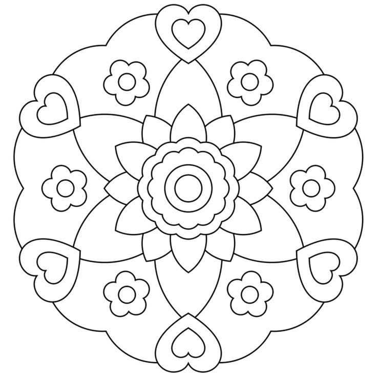33 best Mandala´s kids images on Pinterest | Colouring pages ...