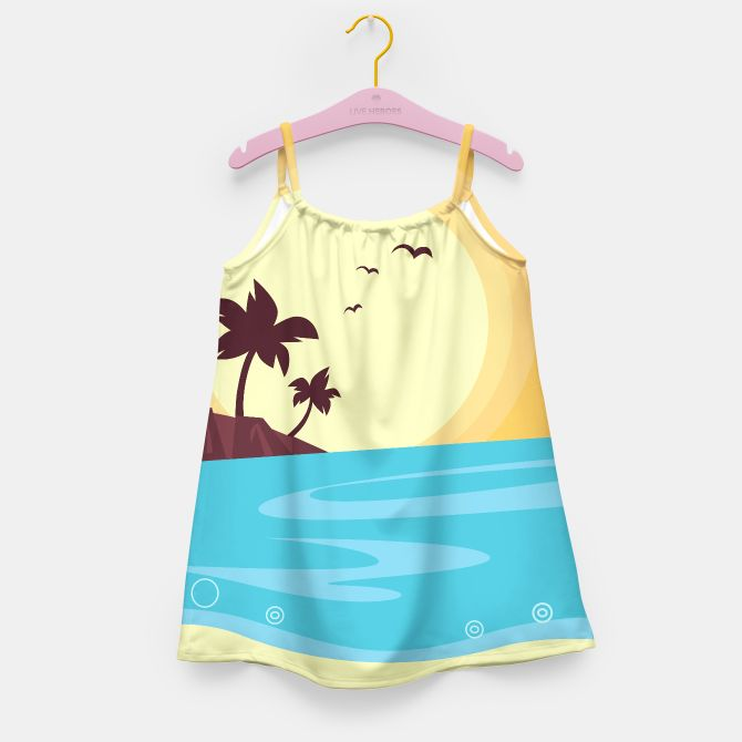 DESIGNERS GIRLS DRESS with Palms