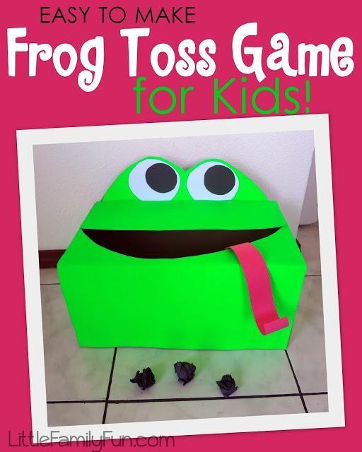 DIY Toys : DIYFrog Toss Game for kids!