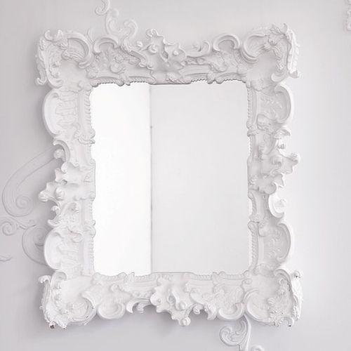 mirror - White Frame Mirror