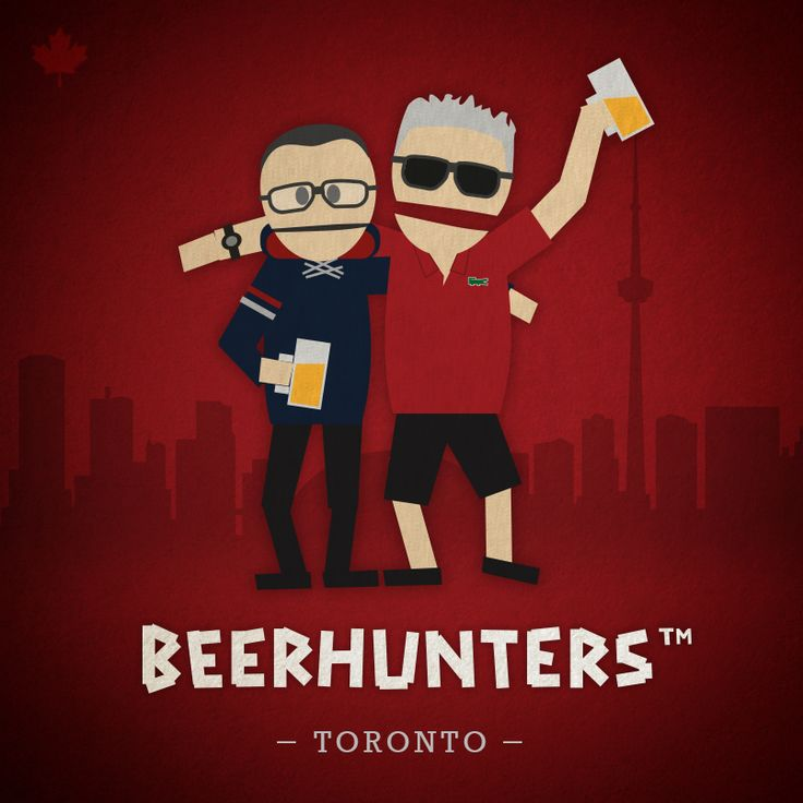 "Illustration made for my ""beer"" friends to remember our Toronto visit."