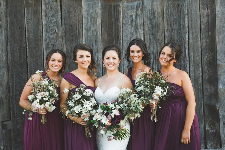 wedding hair & Makeup//rustic wedding//smokey eyes//bridal party www.maplelane.com.au