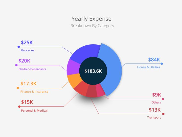 Financial Calculator Infographic - Pie Chart by Md. Shahadat Hussain - Dribbble