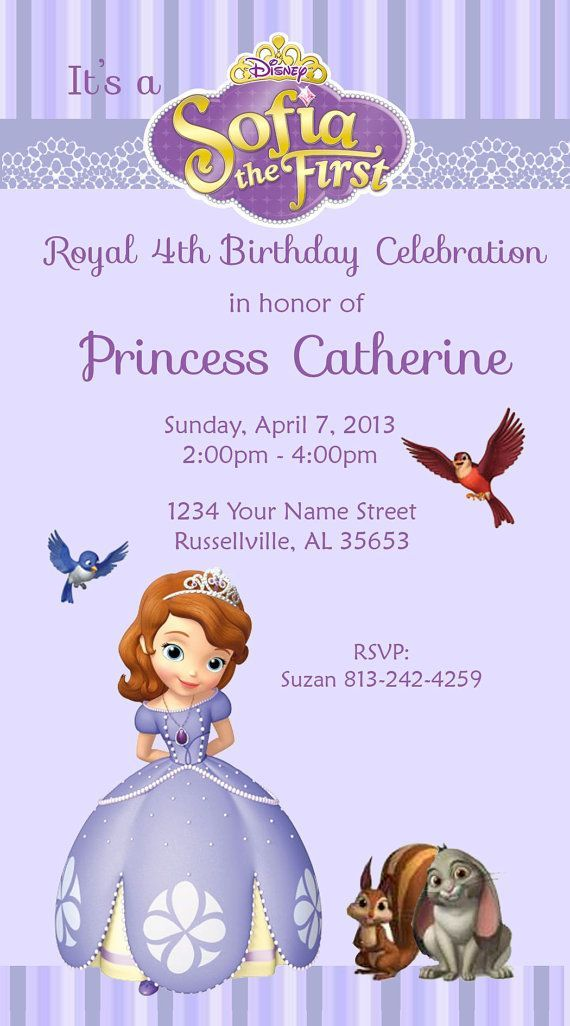 sofia the first party invitations Sofia The First Party Invitations