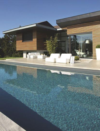 maison d 39 architecte moderne au bord du lac l man swimming pools and swimming pools. Black Bedroom Furniture Sets. Home Design Ideas