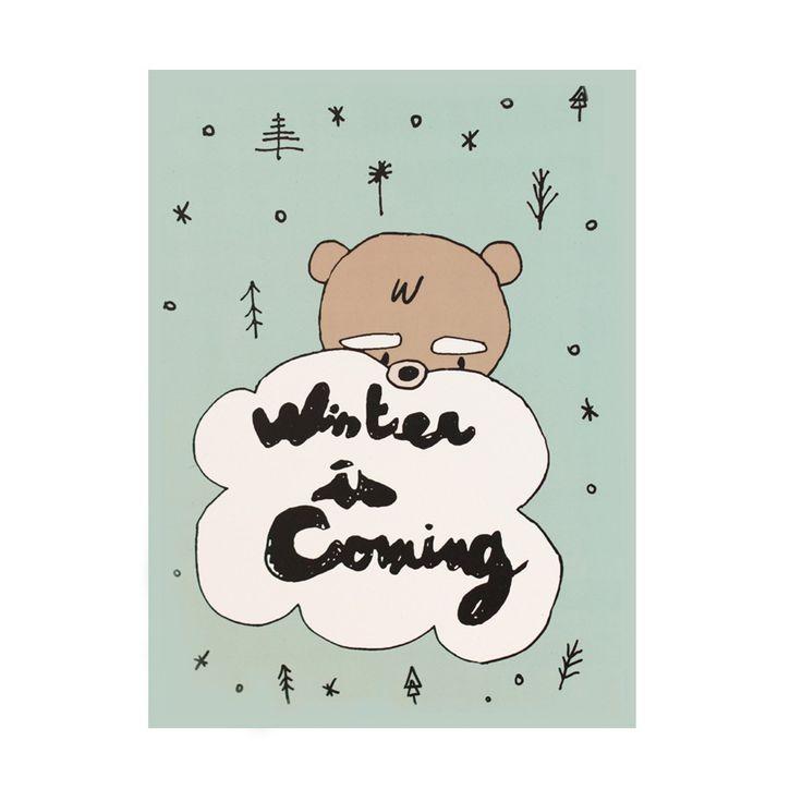 Simple Poster Winter is ing x Cm FrankreichKinderzimmerBilderDer