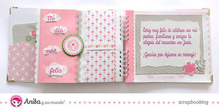 Álbum primera comunión tutorial #scrapbooking #scrap #niña #Anitaysumundo #manualidades #crafts