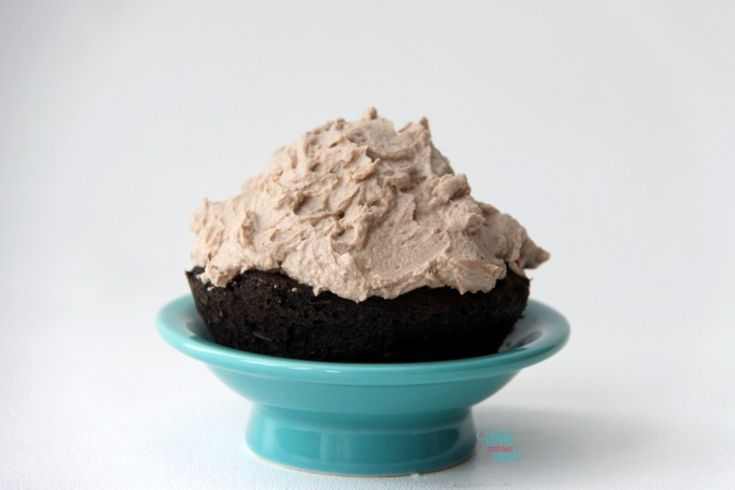 Single Serve Chocolate Protein Cupcake with Protein Frosting MMAZ Xocolatl (Chocolate) Trifecta
