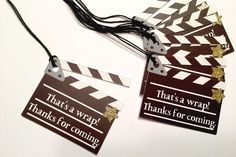 Movie Party Tags (Movie Party, Hollywood Theme, Movie Night Party, Gift Tags, Favor Tags) by BirdInACageCreations on Etsy https://www.etsy.com/listing/495951357/movie-party-tags-movie-party-hollywood