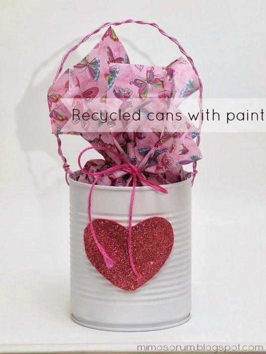 Tutorial para reciclar latas de conservas con pintura. DIY: Recycled Cans with paint.