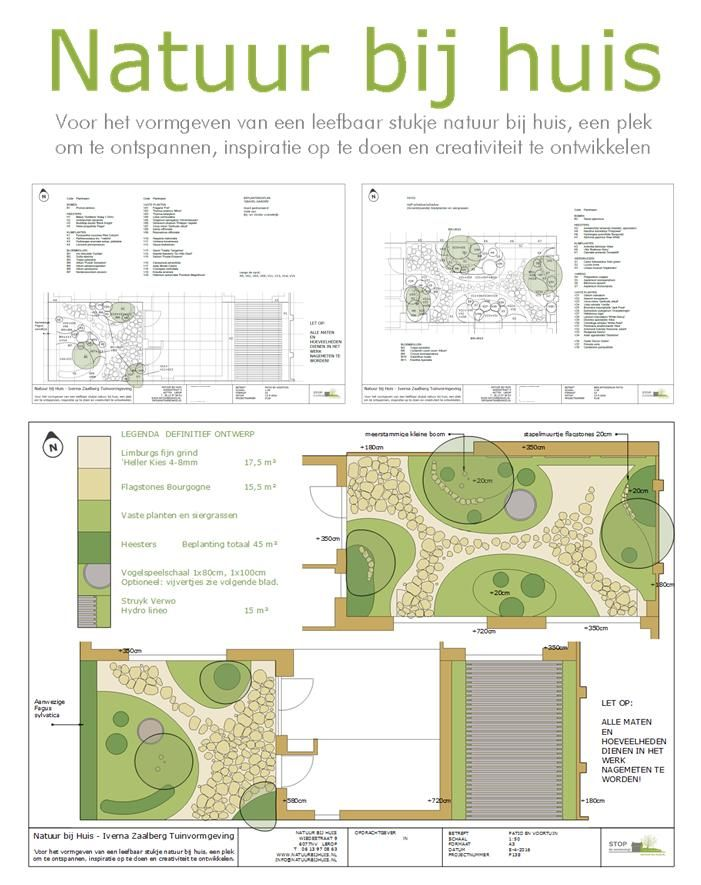 Tuinontwerp en beplantingsplan natuurlijke patio en voortuin. Ontwerp: Natuur bij huis 2016 Locatie: Roermond