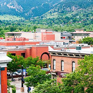 Boulder Flatirons view - info from Sunset mag