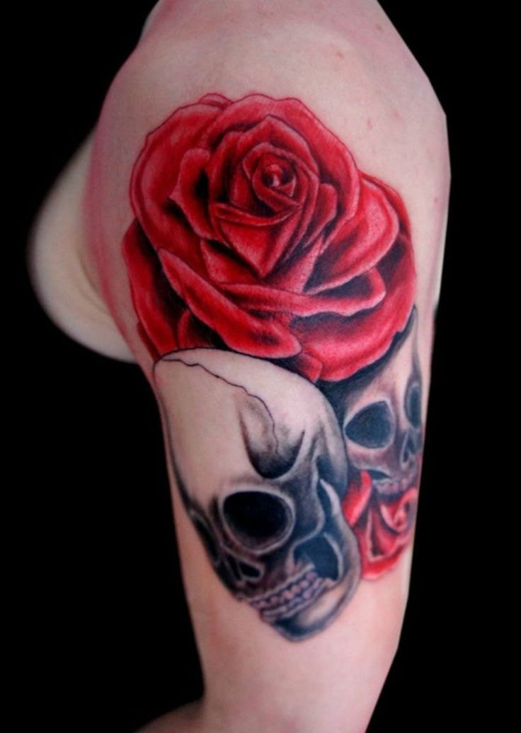 25 best ideas about skull rose tattoos on pinterest skulls and roses evil skull tattoo and. Black Bedroom Furniture Sets. Home Design Ideas