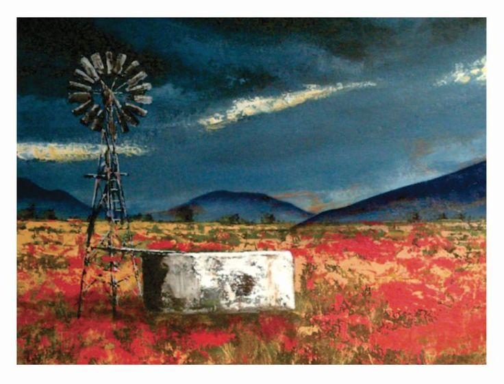 Colesburg-Landscape-Acrylic on board