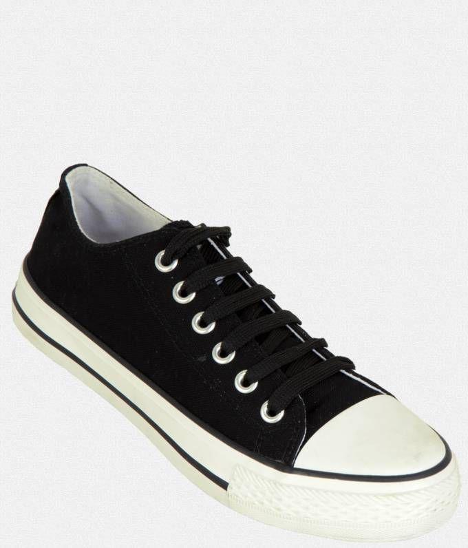 Zovi Black Casual Canvas Shoes