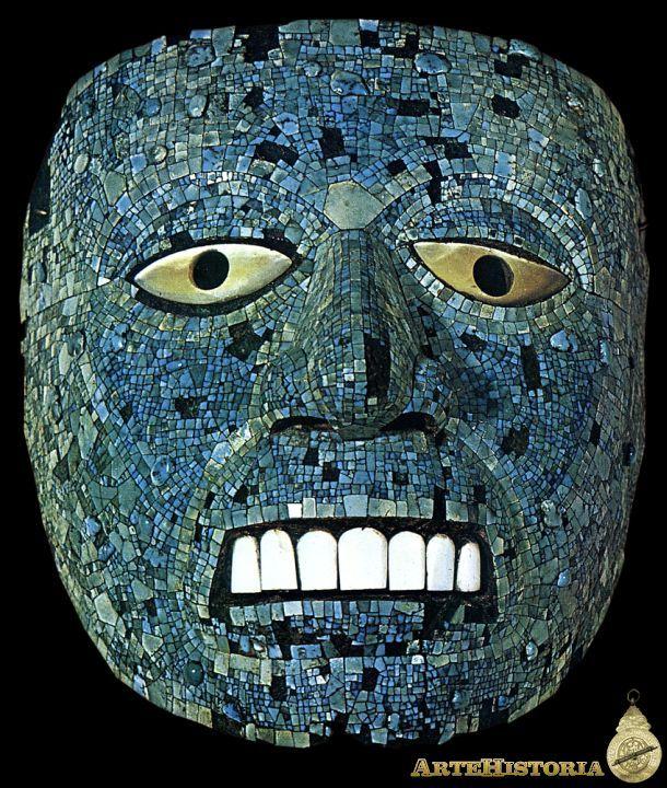 Máscara de Quetzalcoatl. Religión Azteca