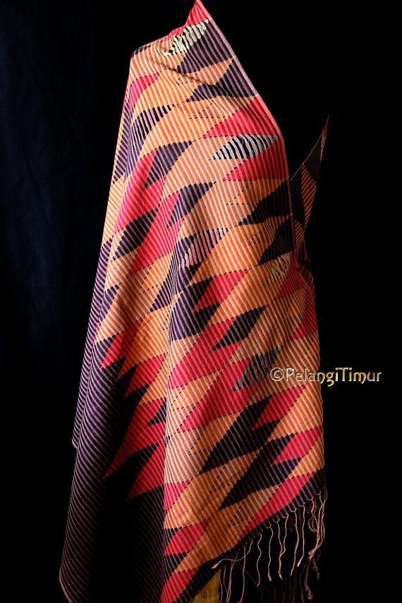 Handwoven Balinese Rangrang Scarf  Silk/Cotton Mix by PelangiTimur, £75.00