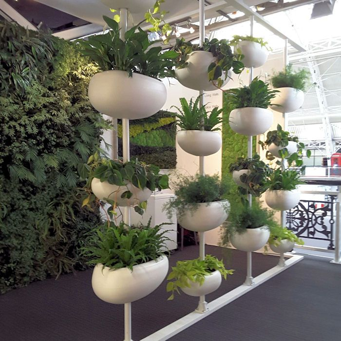 Vertical Plant Pods In Mixed Sizes Suitale For Live Or Artificial Plants
