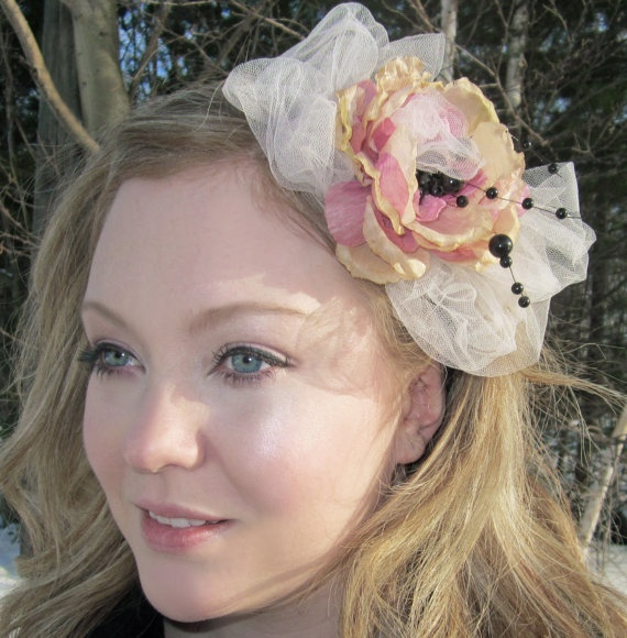 bloomer Pretty Soft Headband Fascinator with by SHOWYOURbloomers, $30.00