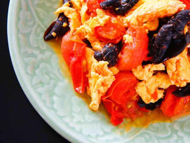 トマトと木耳の卵炒めの画像