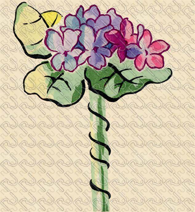 (9169) 20's flat graphic flower – anni 20 fiore piatto grafico (preview150dpi) – Imagesfashiontextiles
