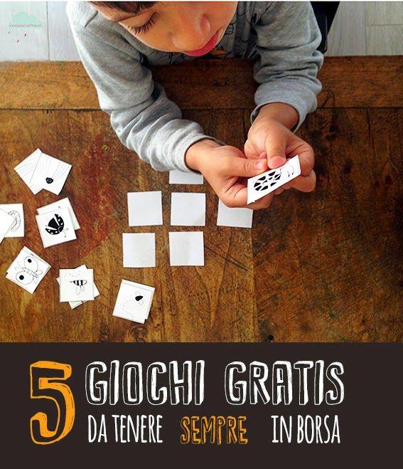 Quandofuoripiove: 5 giochi gratis da stampare e tenere sempre in borsa