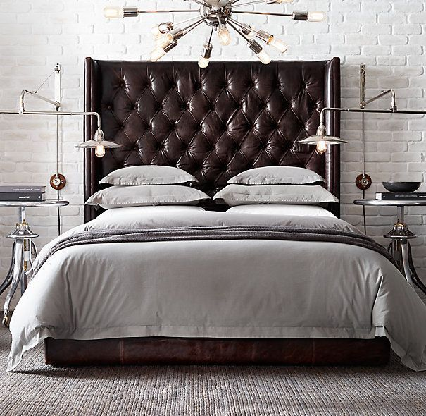 Fantastic Leather Tufted Headboard 1000 Images About Black Beds On Pinterest Bed