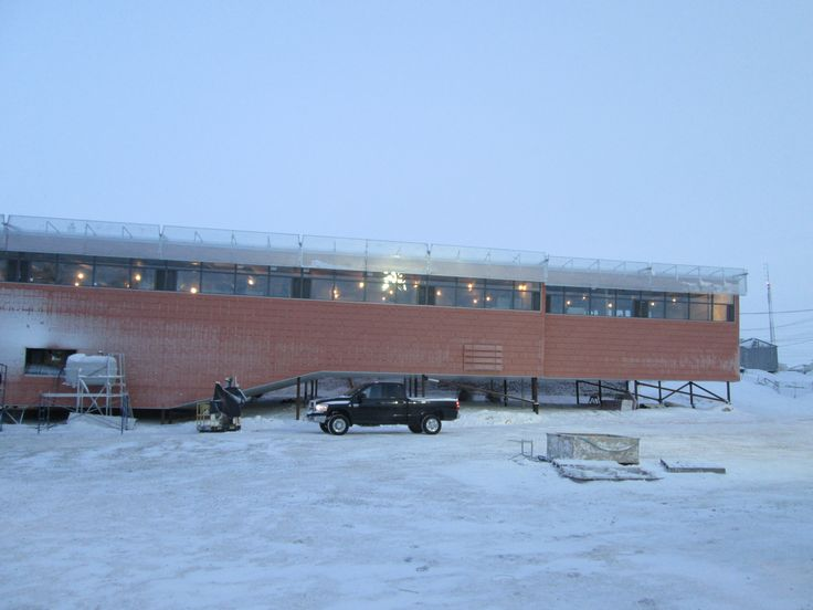 Project: Cambridge Bay Office Building, Nunavut, Canada | Architect: NWTAA and Pin/Taylor | Product: EQUITONE [tectiva] | This project is underway in -28C and between blizzards! | #brilliantbuildings #extreme #conditions