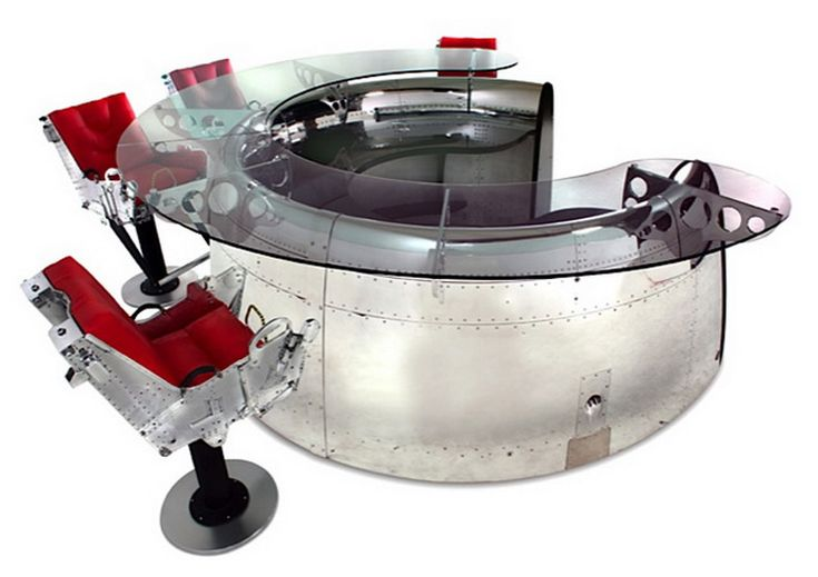 75 best images about aircraft recycled into furniture on for Engine parts furniture