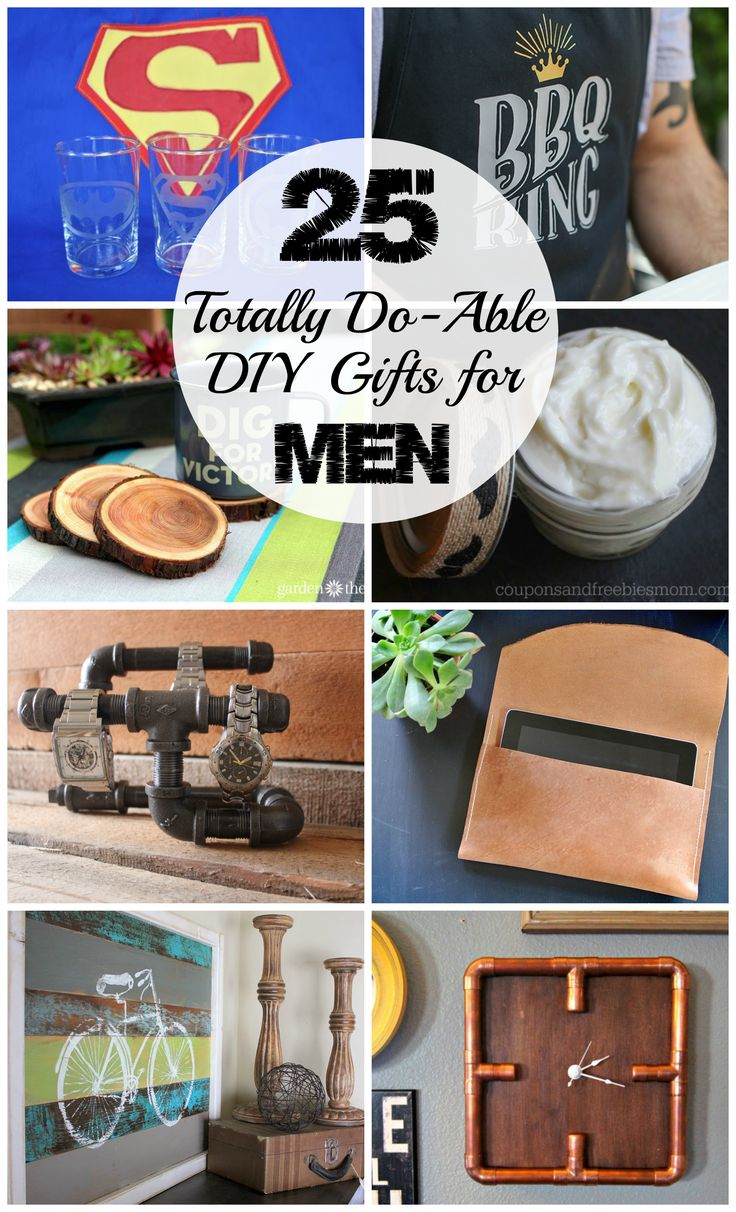 25 Totally Do-Able DIY Gifts for Men for any occasion! Christmas, birthday, Father's Day, etc. The Ultimate Pinterest Party, Week 79