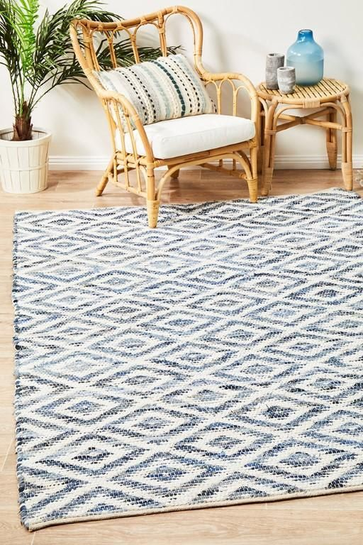 Spark Nu4 Blue Cotton Flatweave Rug Diamond And Chevron Patterning In A Wide Array Of Unique Colours Make This Range The Flat Weave Rug Rug Texture Flat Weave