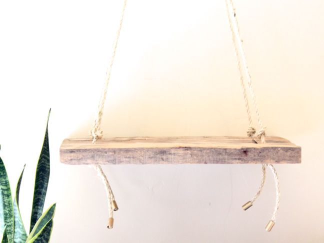Build an Anthropologie Inspired wood rope shelf with just a few materials (no fancy woodworking skills required) - this DIY shelf turned out beautiful!