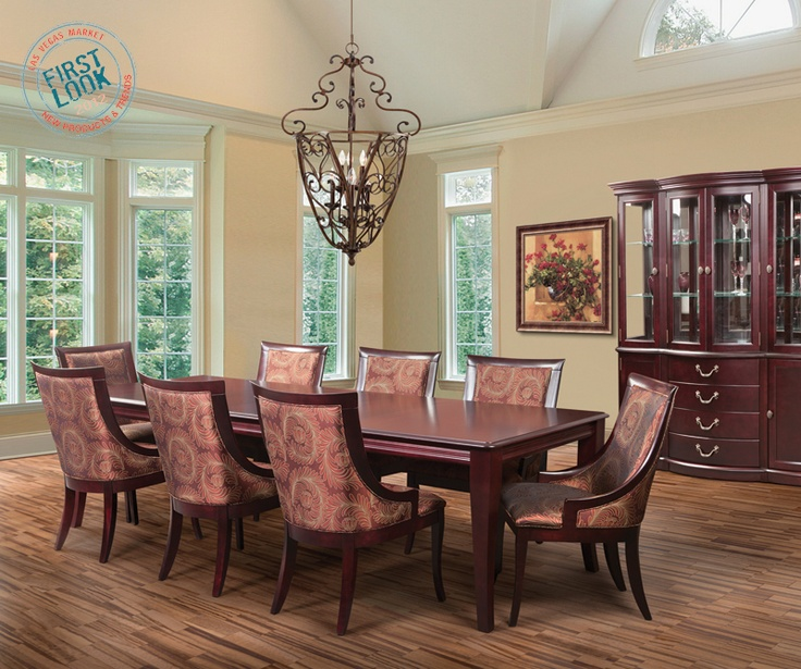 Bermexs New Transitional Birch Dining Set Boasts 134 Finish Options The Table Has A Self Storing Mechanism For Up To Two Leaves Go Big This Summer At Las